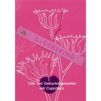 "Capizherz Karte ""Glückskind"" 12er Set"