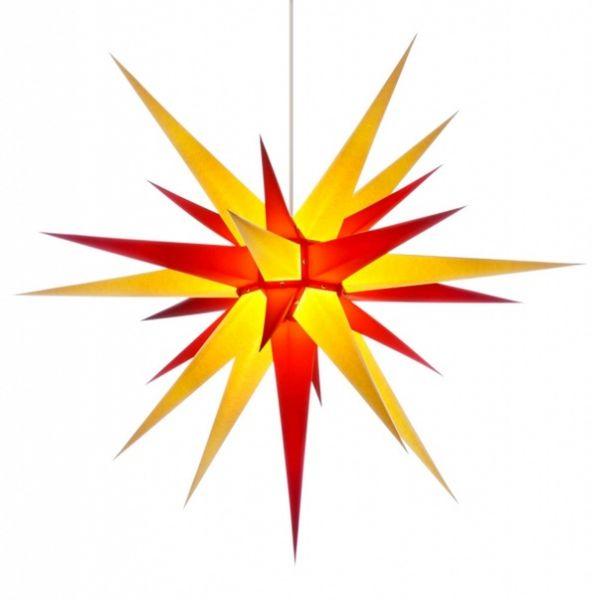 Herrnhuter Stern für Innen, Gelb-Rot 80 cm