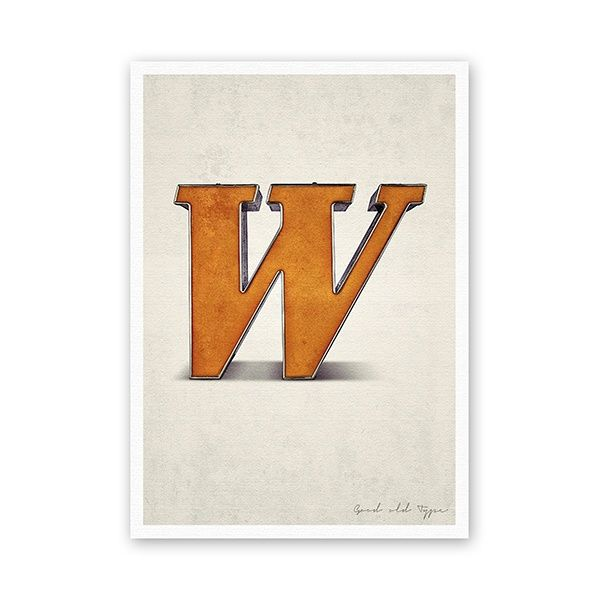 "Postkarte - ""W"""