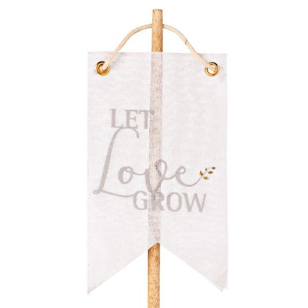 """Wimpelstecker """"Let love grow"""", gold"""