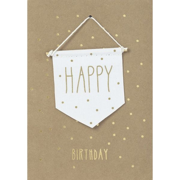 "Wimpelkarte ""Happy Birthday"""