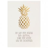 """Mein Lieblingsmensch Postkarte """"Sei wie eine Ananas"""""""