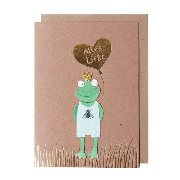 "Glückstier Karte ""Frosch"""