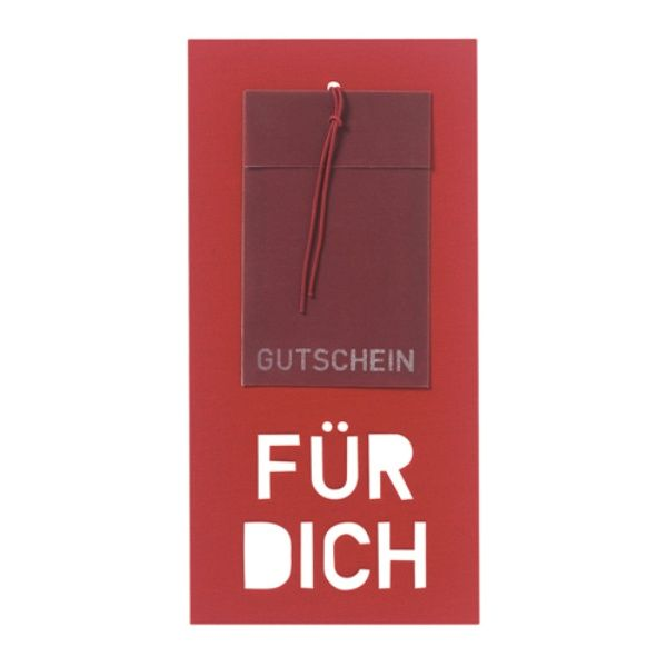 """Neue Gutscheinkarte """"Für Dich"""""""
