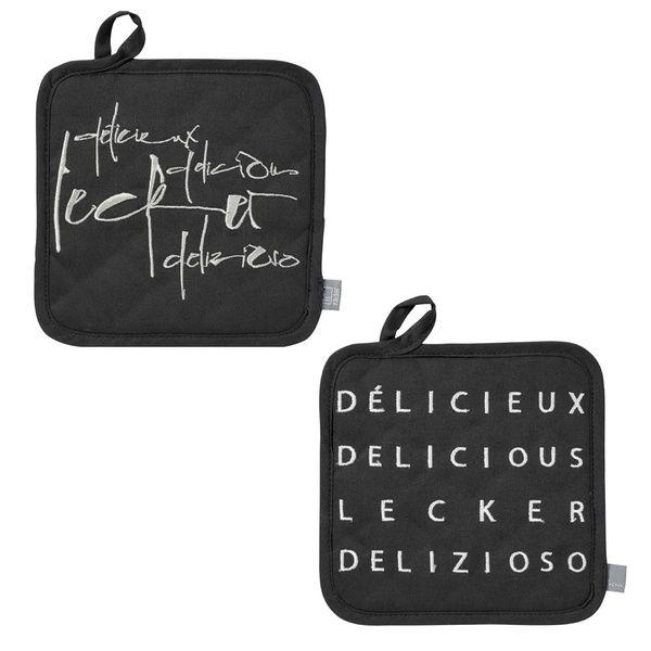 """Poesie et Table Topflappen """"Lecker"""""""