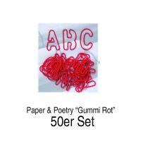 ABC Gummis, 26tlg., rot, 50er Set