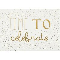 "Postkarte ""Time to celebrate"""