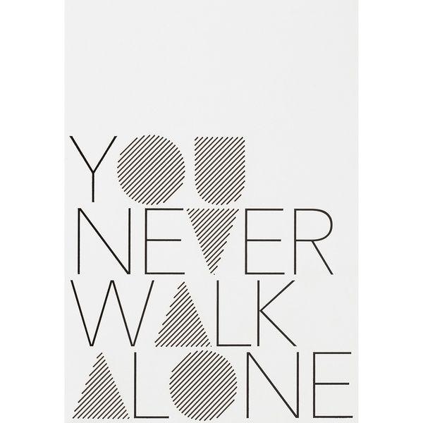 "Herrenkarte ""You never walk alone"""
