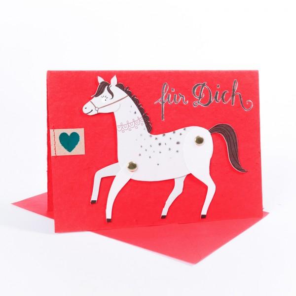 "Hampeltier Karte ""Pferd"""