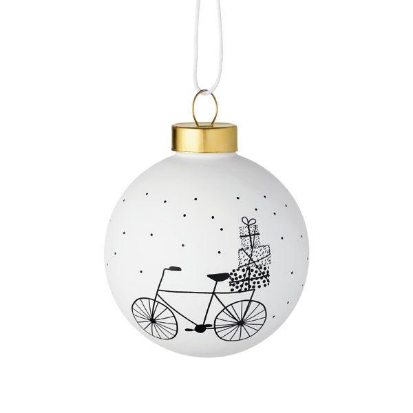 "Winterwunderland Kugel ""Fahrrad"""