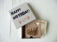 """Geldgeschenkbox """"Happy Birthday"""""""