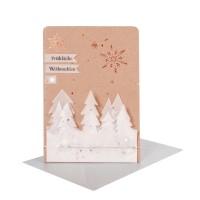 """Winter Silhouetten Karte """"Fröhliche Weihnachten"""""""