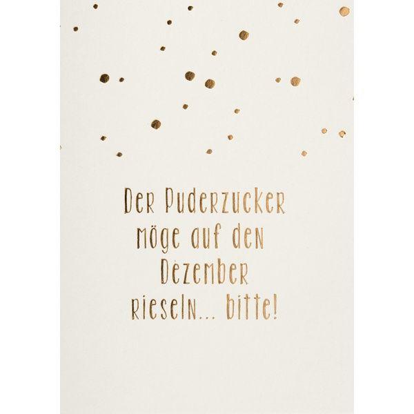 """Weihnachtspostkarte """"Der Puderzucker möge …"""""""