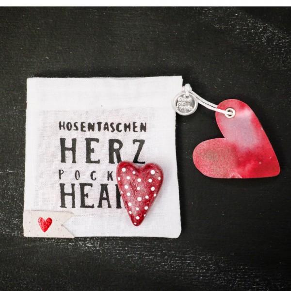"""Hosentaschen Herz """"Pünktchen"""""""