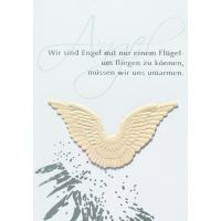 """Himmelsboten Flügelkarte """"Wir sind Engel mit"""""""
