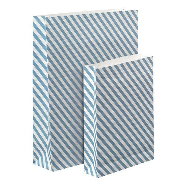 "Geschenktüten ""blau - weiss"" 2er Set"