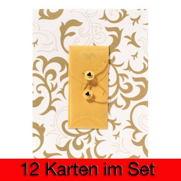 """Gutschein Präge Karte """"Neutral"""" 12er Set"""