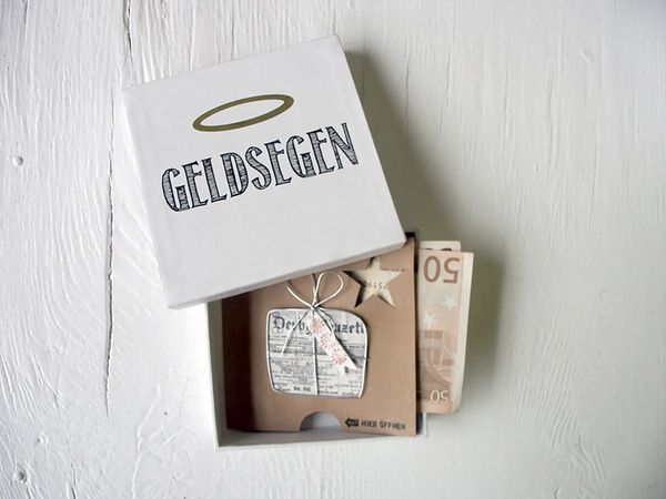 """Geldgeschenkbox """"Geldsegen"""""""