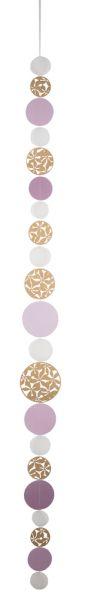 Kreiskette gestanzt - gold | rosa