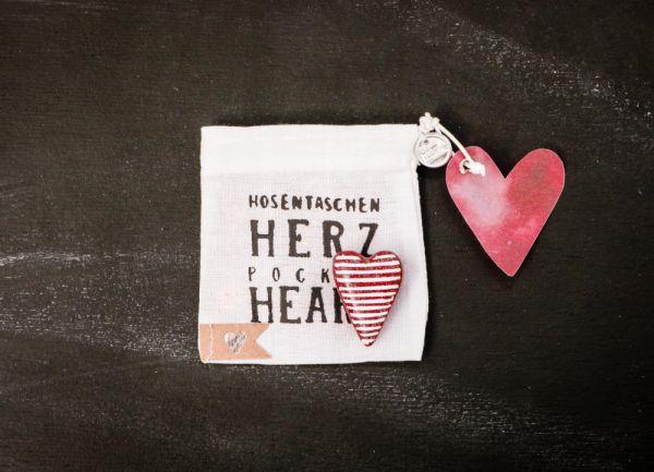 """Hosentaschen Herz """"Streifen"""""""