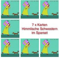 """Himmlische Schwestern - Postkarte """"Alles für Dich"""" 7er Set"""