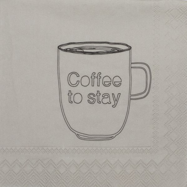 """DINING Cocktailserviette """"Coffee to Stay"""""""