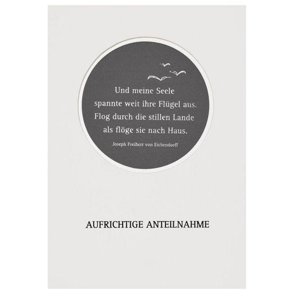 """Passepartout Trauerkarte """"Vogel"""""""
