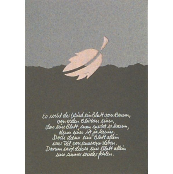 """Trauer Karte """"Es weht der Wind ..."""""""
