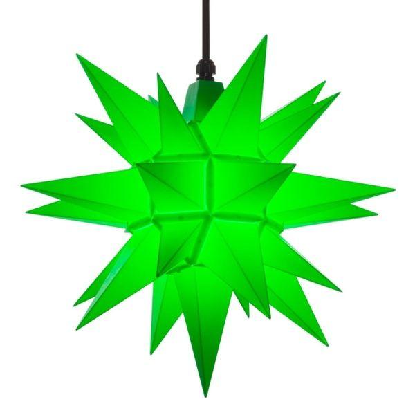 Herrnhuter Stern für Außen, A4 Grün 40 cm