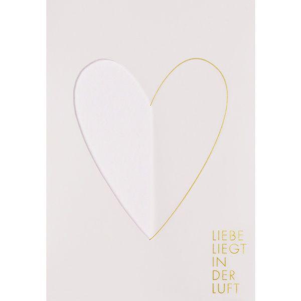 """Transparente Hochzeitskarte """"Liebe liegt in der Luft"""""""