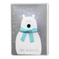 """Winter Knopf Karte """"Eisbär"""""""