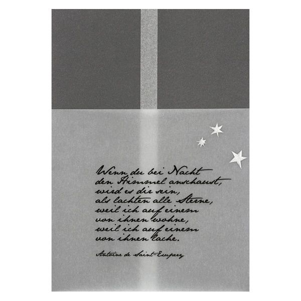 Kondolenzkarte - Wenn Du bei Nacht den Himmel anschaust...