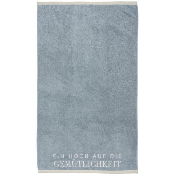 """Badetuch """"Gemütlichkeit"""", Blau"""