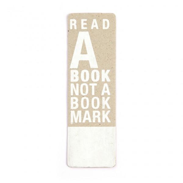 "Good old crafts Lesezeichen ""Read a book"""