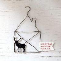 "X-Mas Draht-Ornament ""Das Haus vom Nikolaus"""
