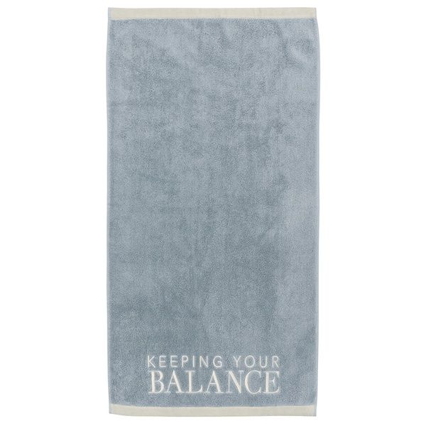 "Handtuch ""Keep your balance"", Blau"