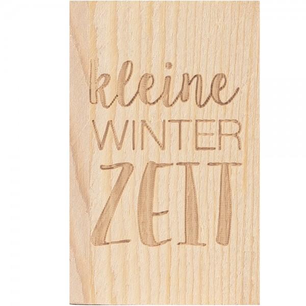Glückskästchen Kleine Winterzeit - Schneemann