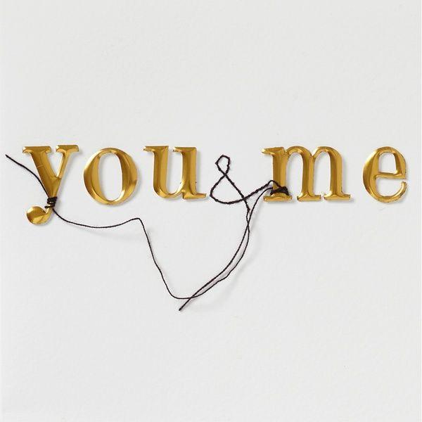 "Kleines Kunststück Karte ""you & me"""