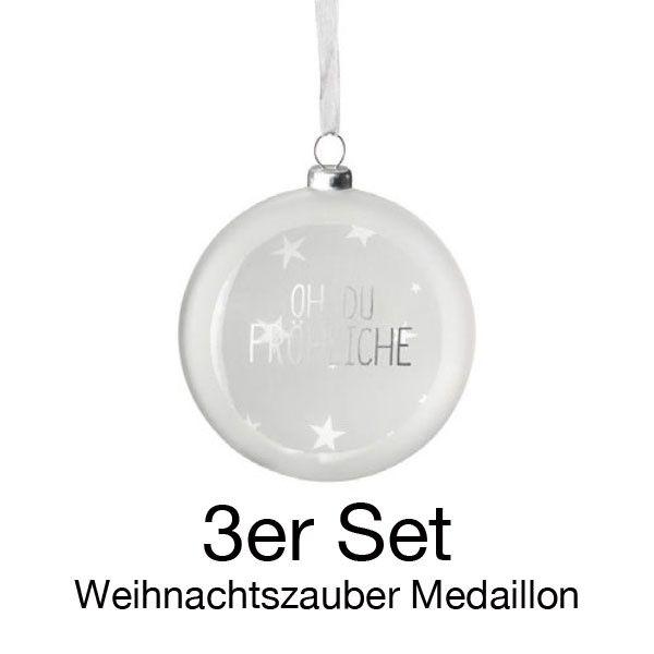 """Weihnachtszauber. Medaillon. """"Oh, Du Fröhliche"""" 3er Set"""