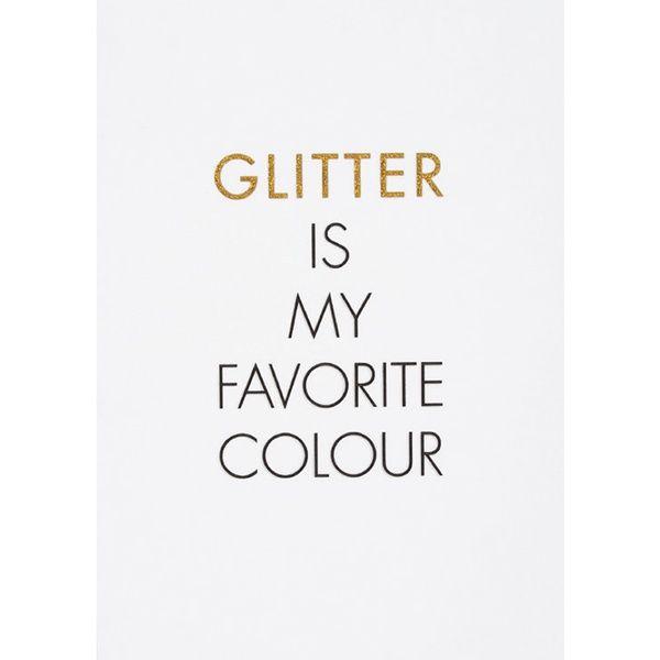 """Glitzer Postkarte """"Glitter is …"""""""