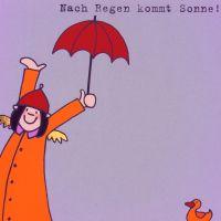 """Himmlische Schwestern - Postkarte """"Nach Regen kommt Sonne"""""""