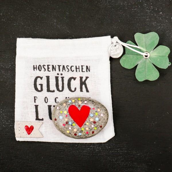 """Hosentaschen Glück """"Herz"""""""