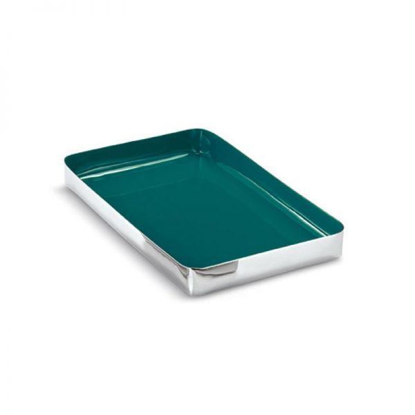 LARGO Tablett, aquamarin, 37 x 23 cm