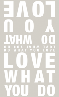 """Poesietuch """"Love what you …"""""""