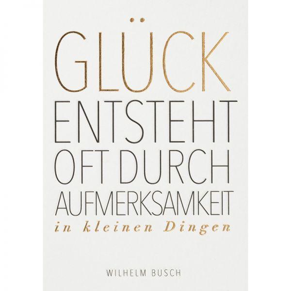 "Fanpostkarte ""Glück entsteht oft"""