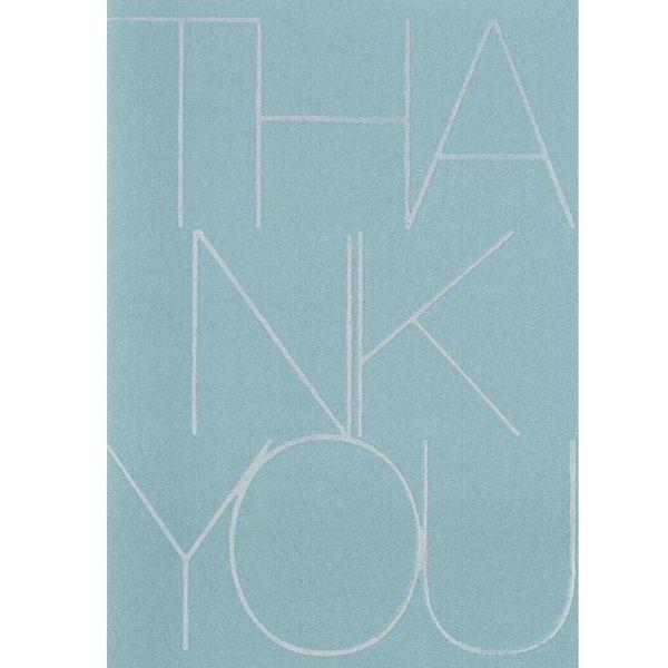 "Beflockte Businesskarte ""Thank you"""