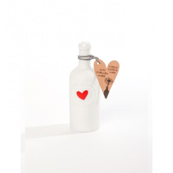 Mini Flaschenvase Herz