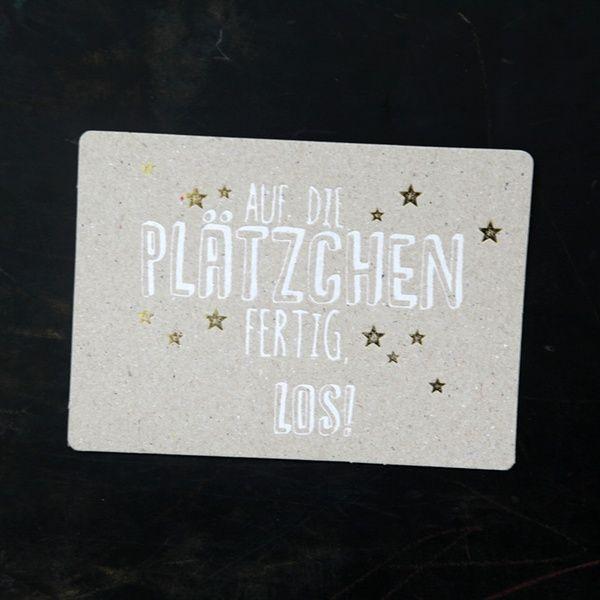 """Winter Postkarte """"Auf die Plätzchen"""""""