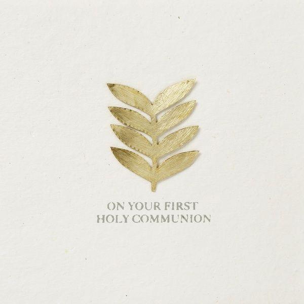 "Festtagskarte ""On your first holy communion"""