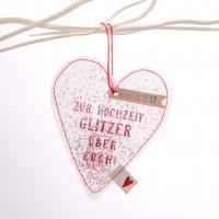 """Glitzer Herz """"Zur Hochzeit"""""""